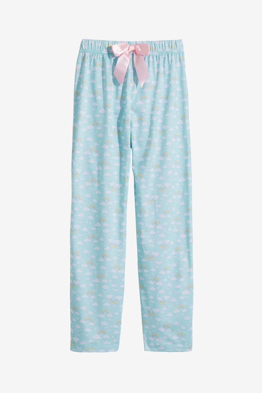 Girl's Printed Pajama Pants, Mint