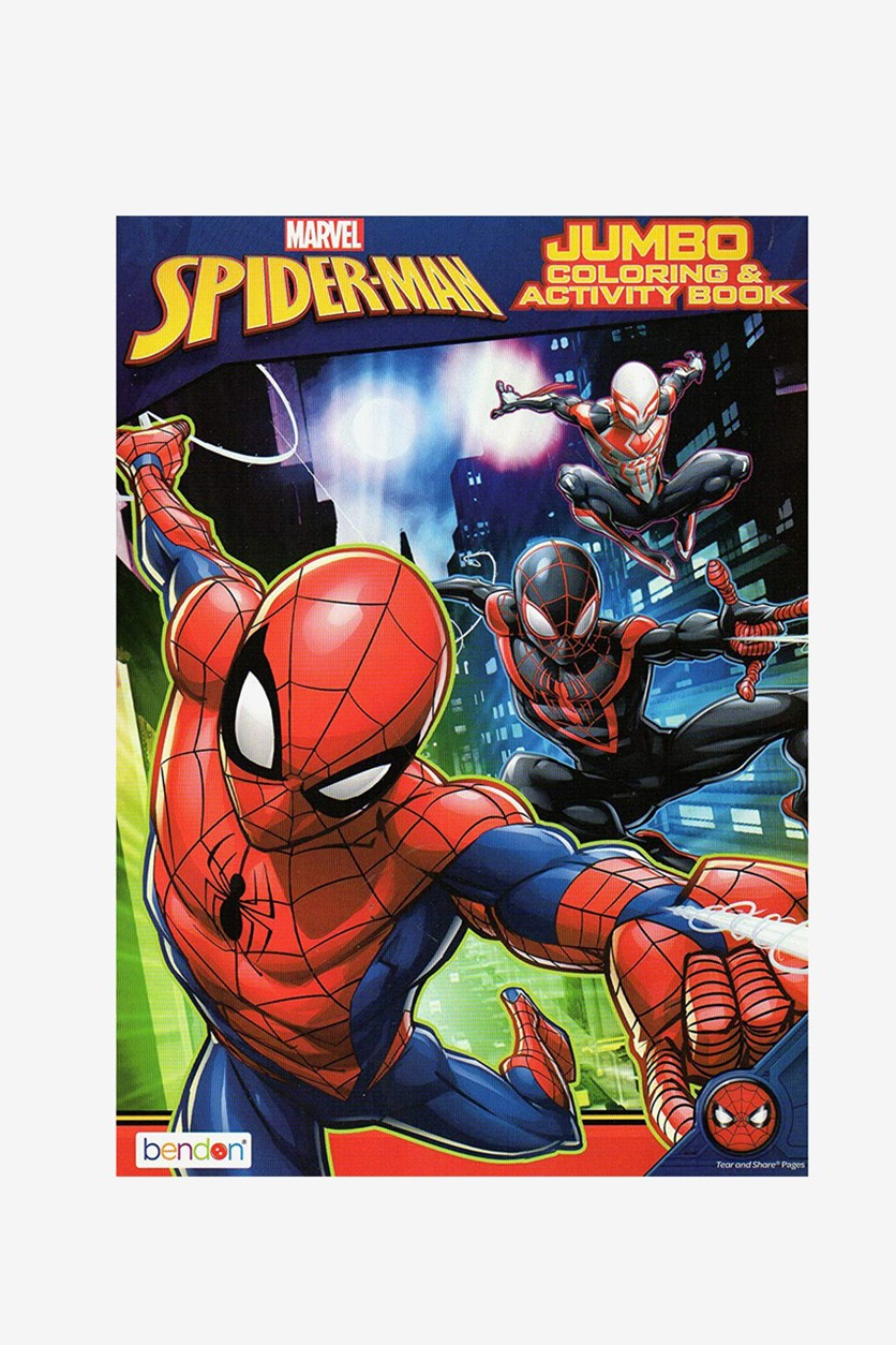 Marvel Spiderman Jumbo Coloring & Activity Book, Red/Blue Combo