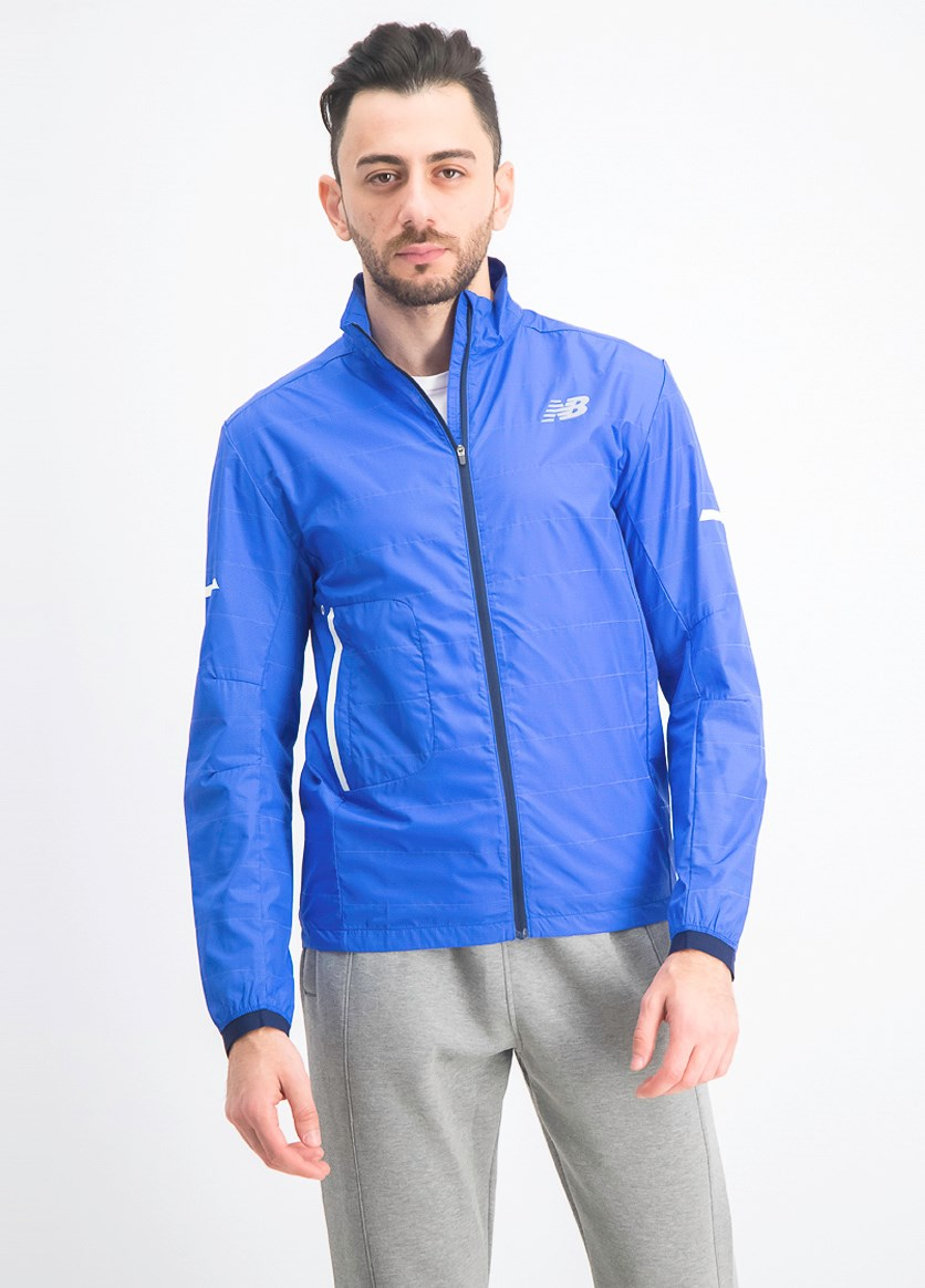 Men's Reflective Packable Jacket, Blue
