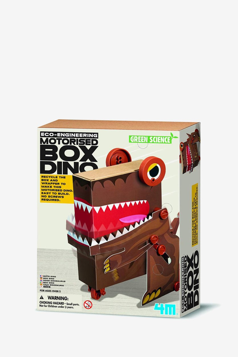 Eco-Engineering Motorised Box Dino, Brown