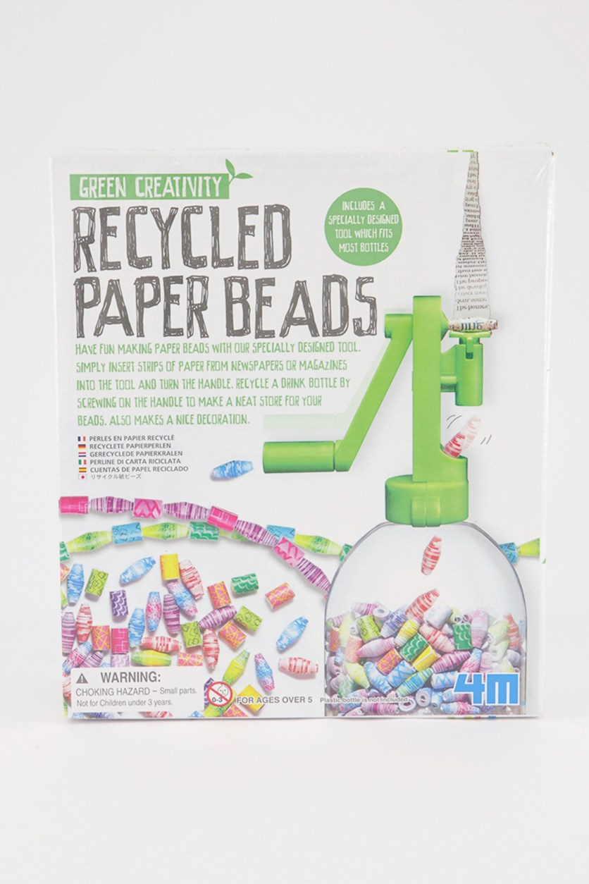 Green Creativity Recycled Paper Beads Kit, Lime