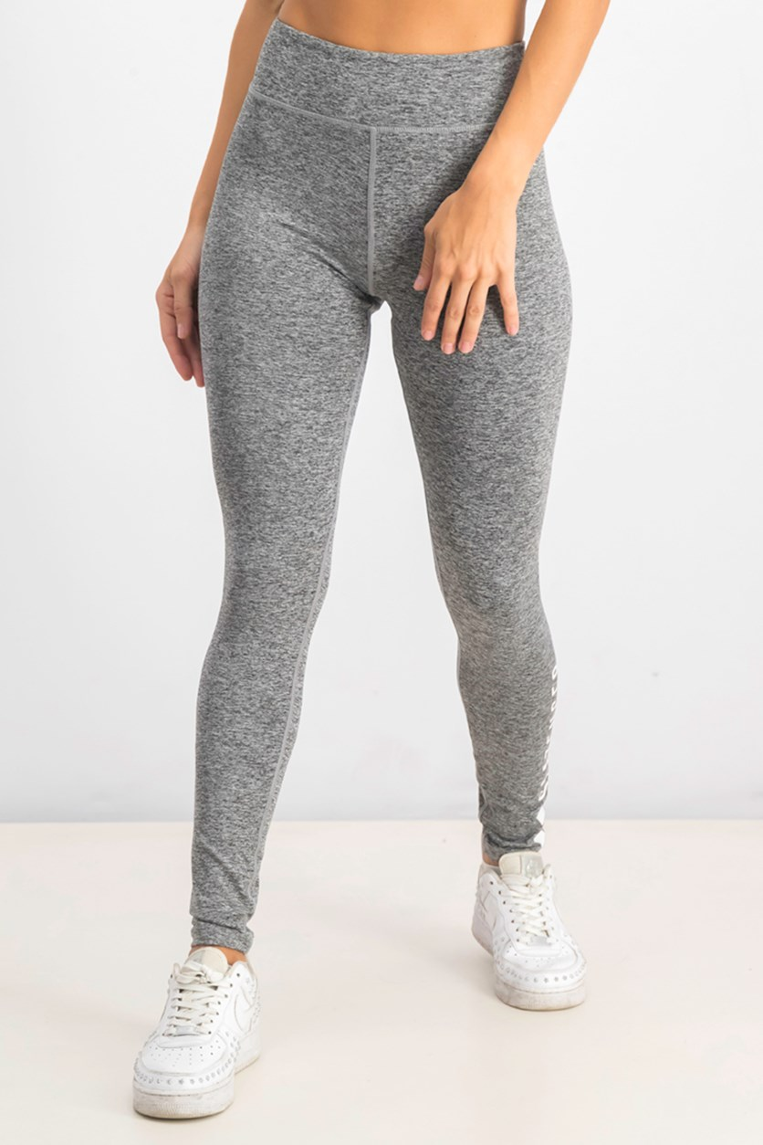 Women's Marl Leggings, Charcoal Combo