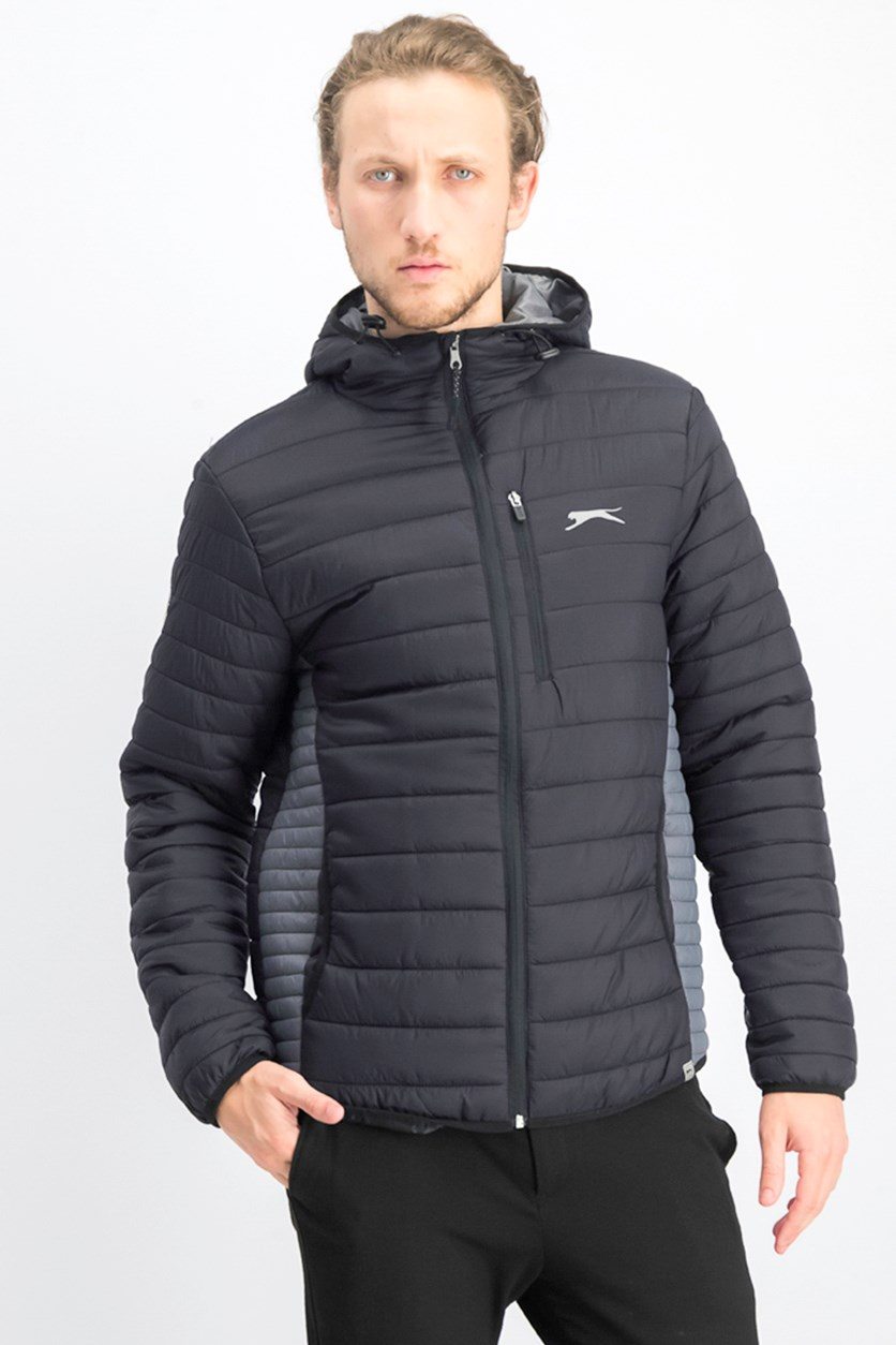 Men's Hooded Jacket, Jet Black