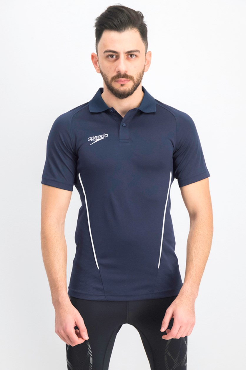 Men's Performance Short Sleeve Polo Shirt, Navy