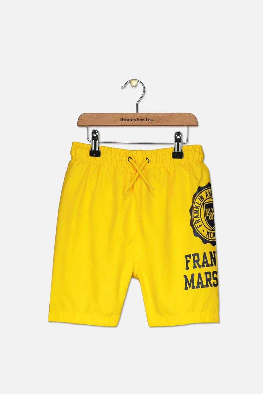 Kids Boy's Swim Short, Lemon Chrome