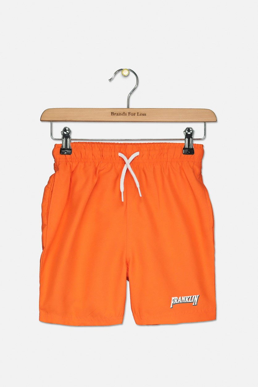 Kids Boy's Swim Short, Flame Orange