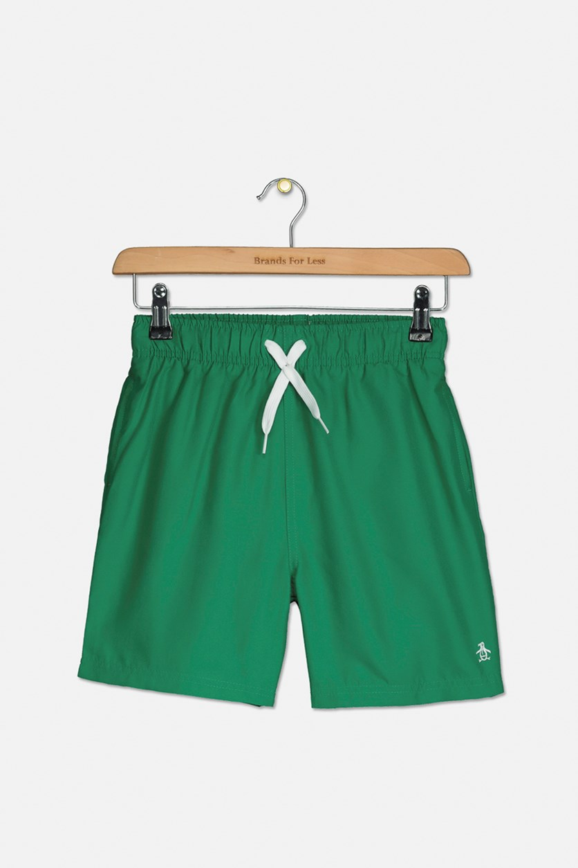 Boy's Swim Shorts, Green