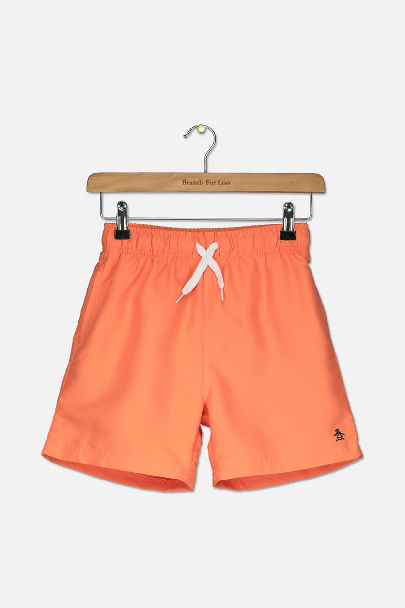 Boys Pull On Board Shorts, Persimmon