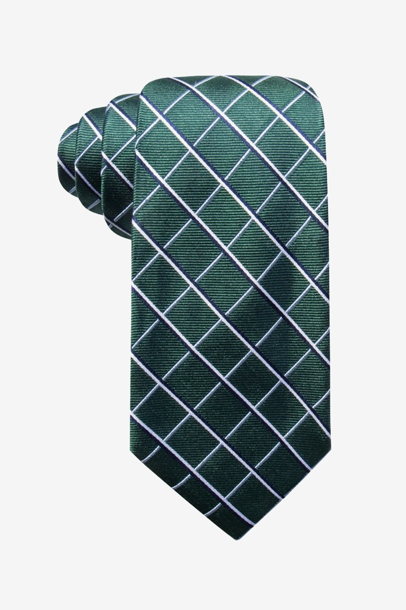 Men's Fernow Check Tie, Green