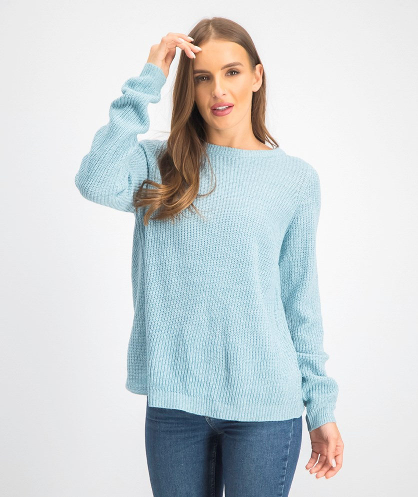 Women's Wrap Back Sweater, Cool Blue