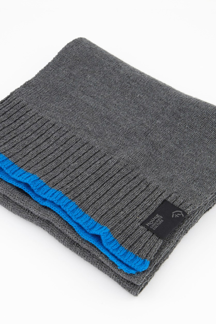 Men's Muffler, Grey/Blue
