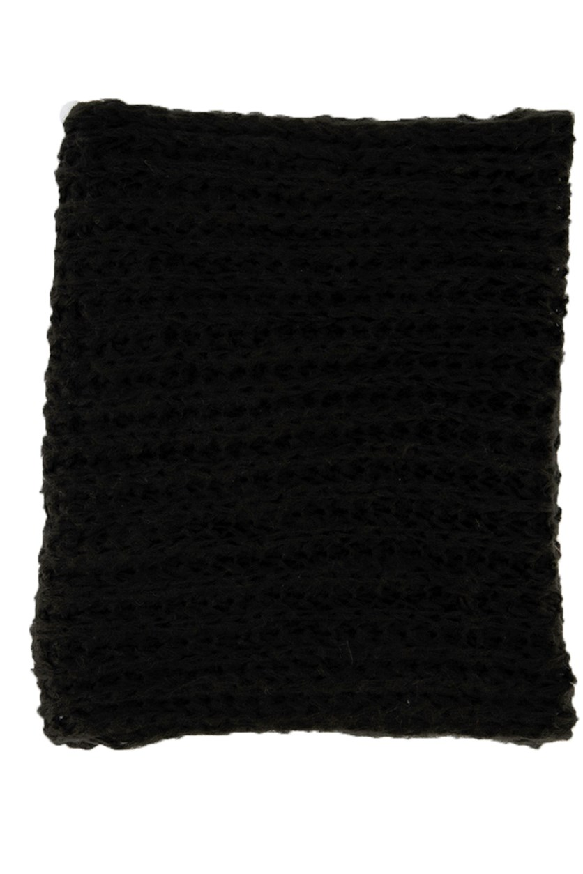 Women's Bold Knitted Scarves, Black