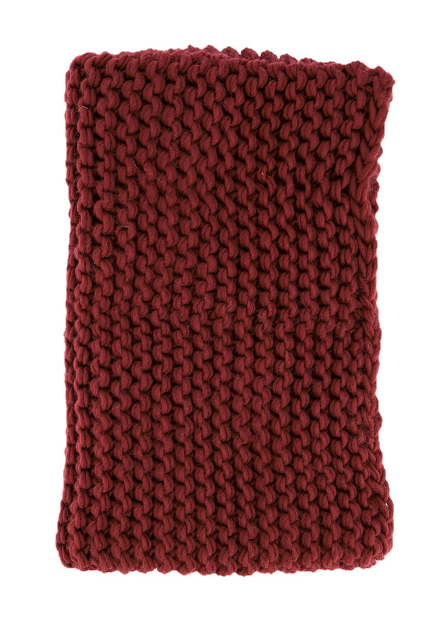 Womens Knitted Scarf, Merlot