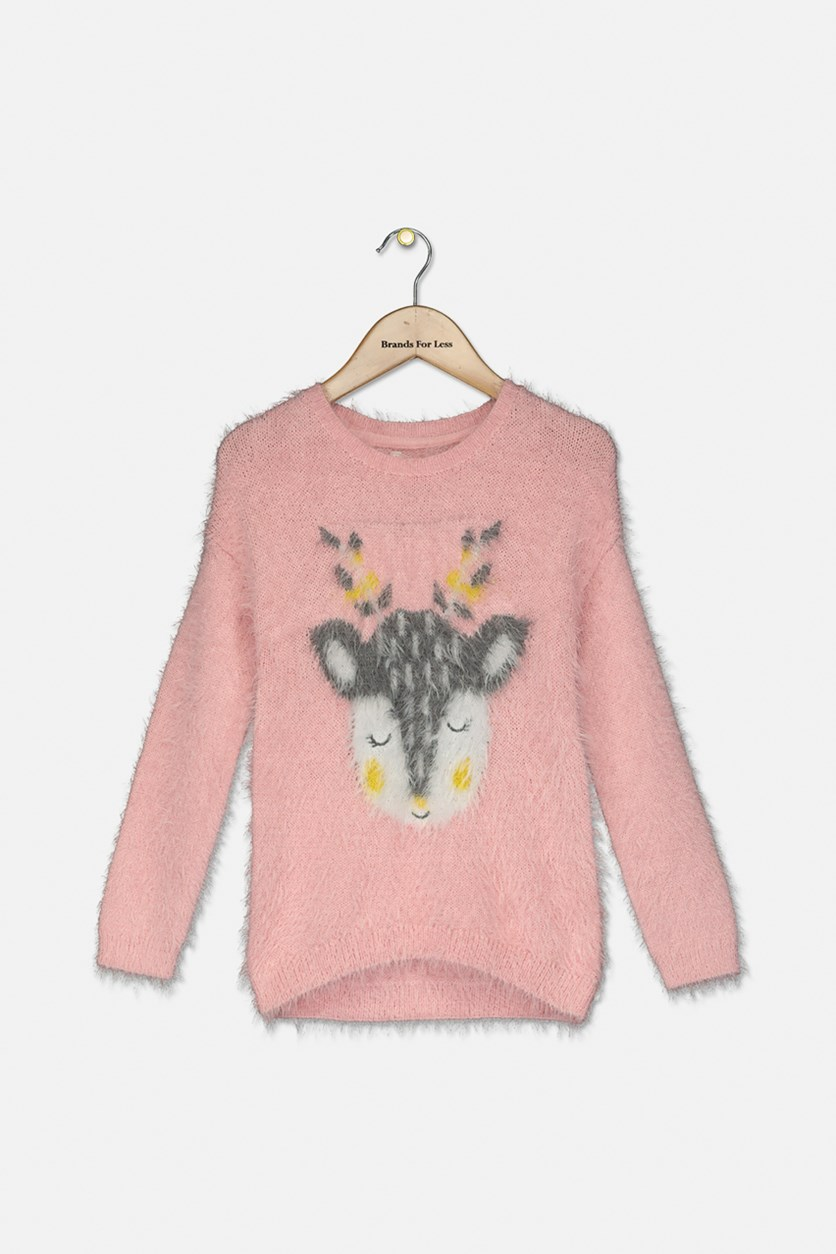 Girl's Long Sleeve Sweaters, Pink
