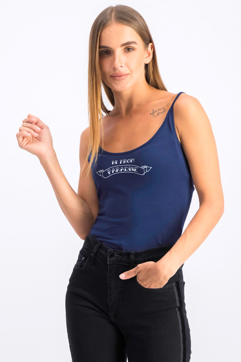Womens Sleeveles Bodysuit, Navy