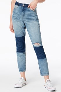 Women's Shadow Cotton Cuffed Jeans, Blue