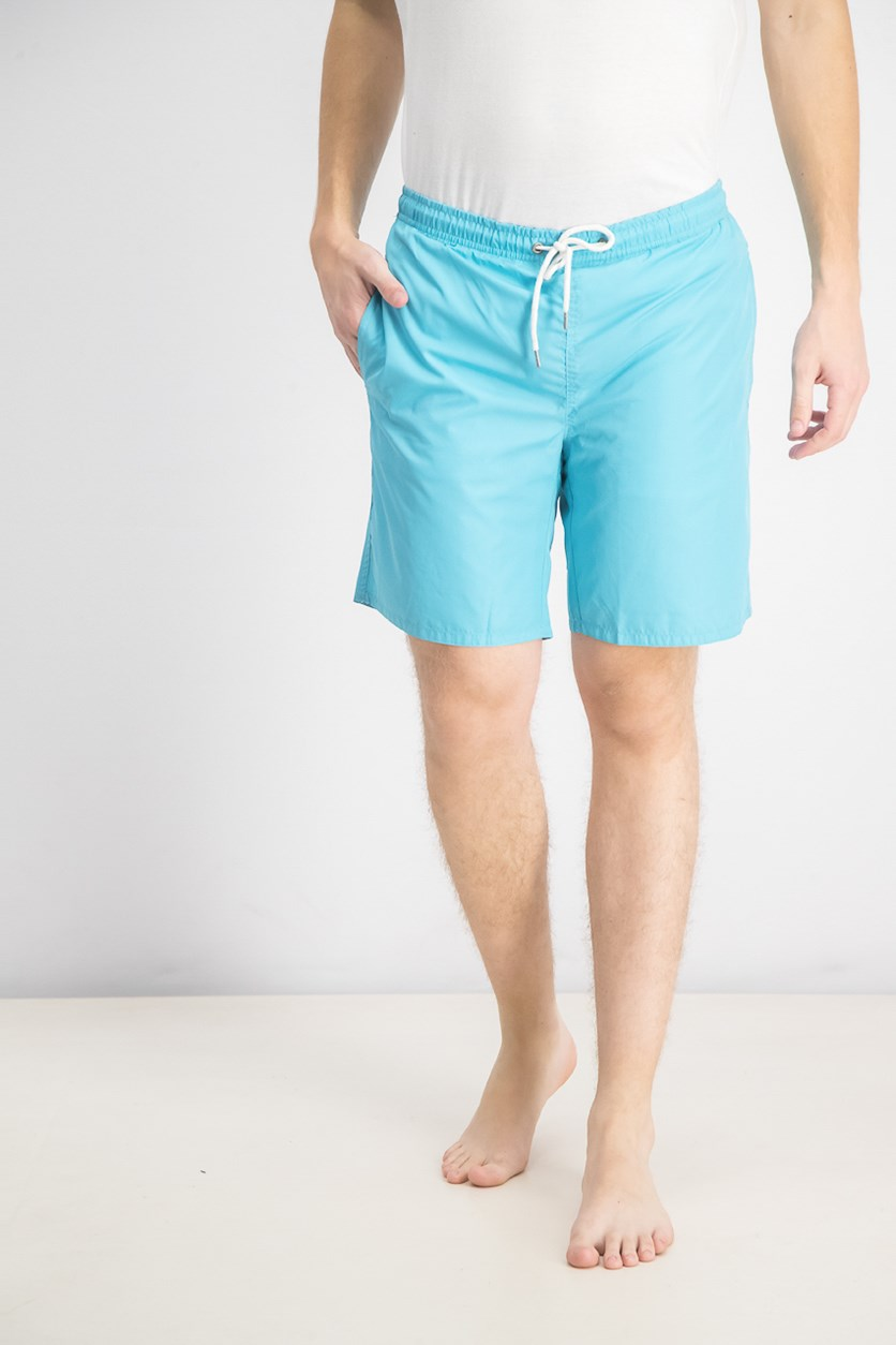Men's Solid Swim Shorts, Turquoise