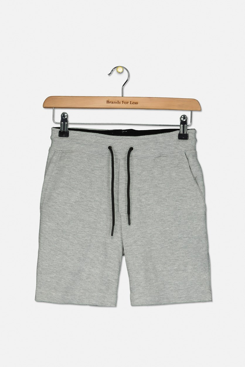 Big Boy's Pull On Short, Heather Grey
