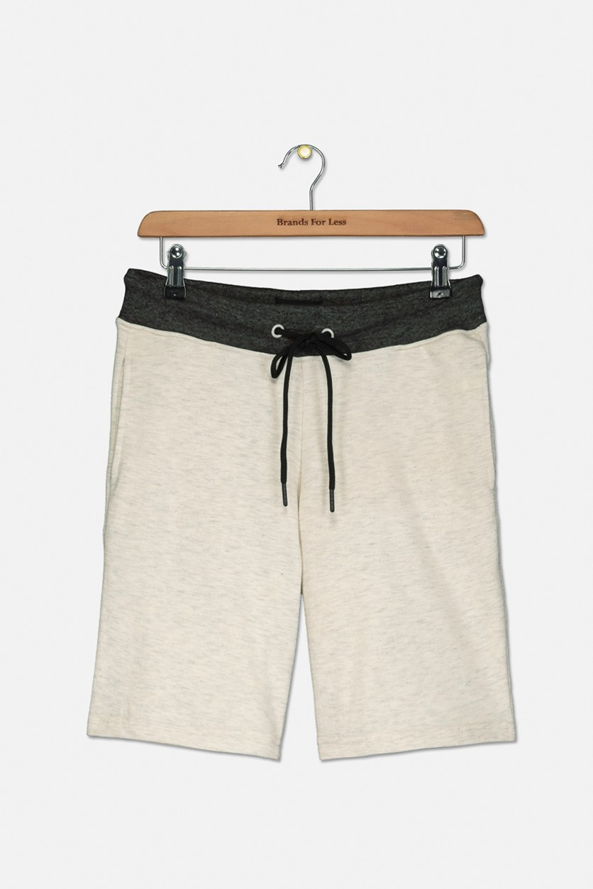 Kids Boys Drawstring Shorts, Oatmeal Zero