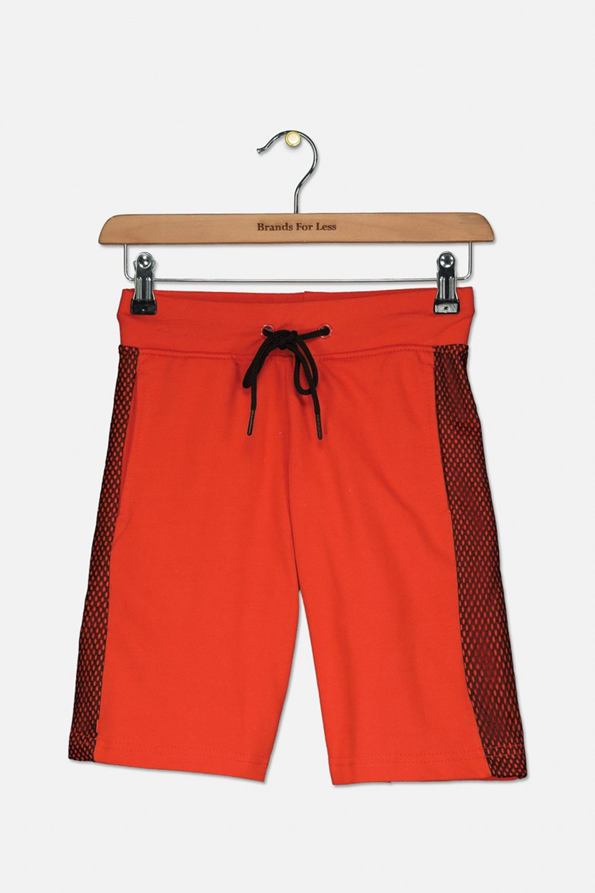 Big Boy's Drawstring Short, Red