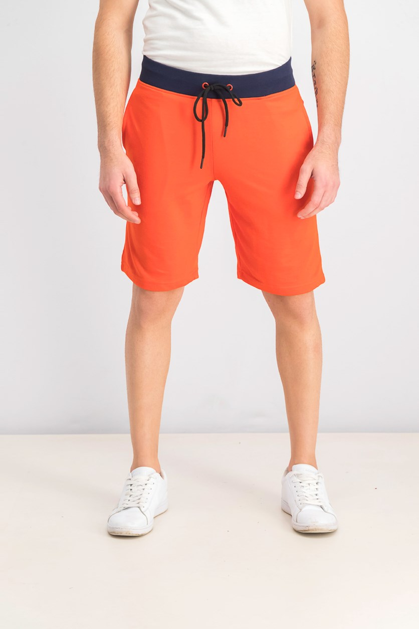 Men's Drawstring Short, Red Orange/Navy