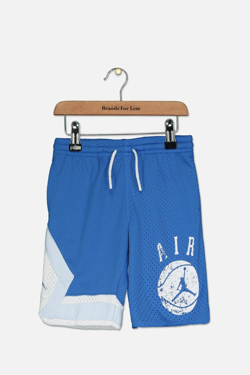 Little Boys Triangle Graphic Shorts, Blue