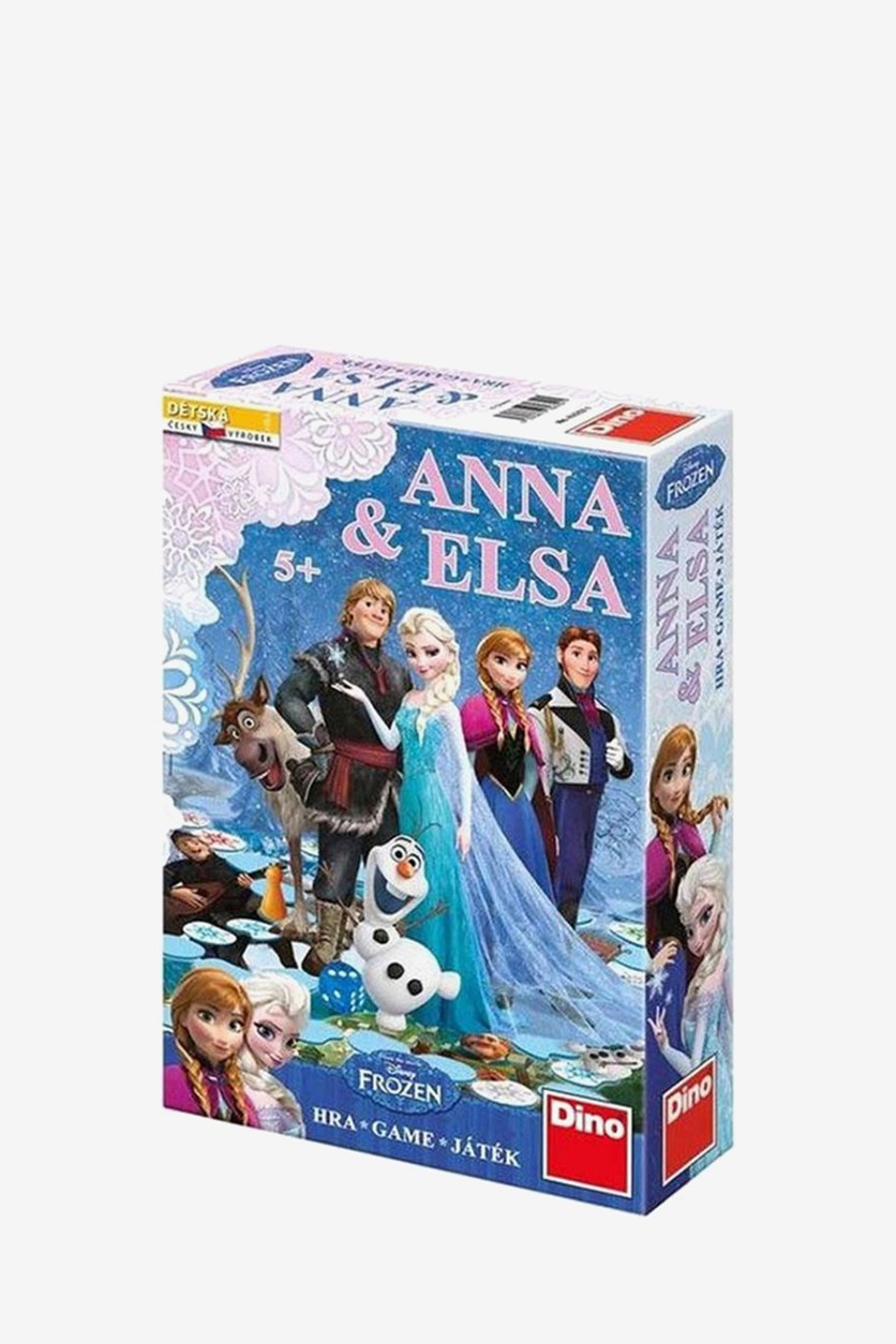 Disney Frozen Anna And Elsa Board Game, Light Blue/Pink Combo