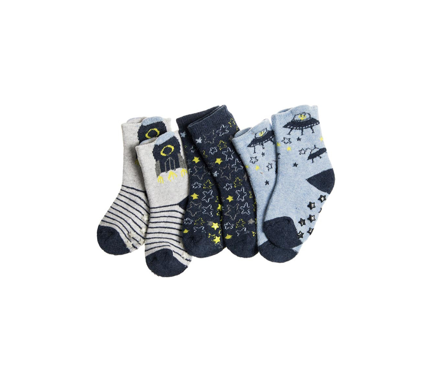 Cool Club Toddler's Socks 3 Pack, Navy/Blue