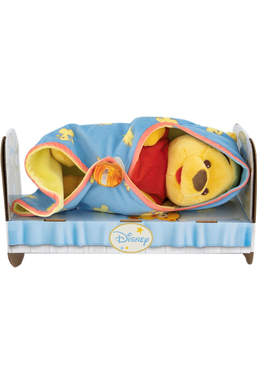 Winnie The Pooh Doll With Blanket, Yellow/Blue/Red