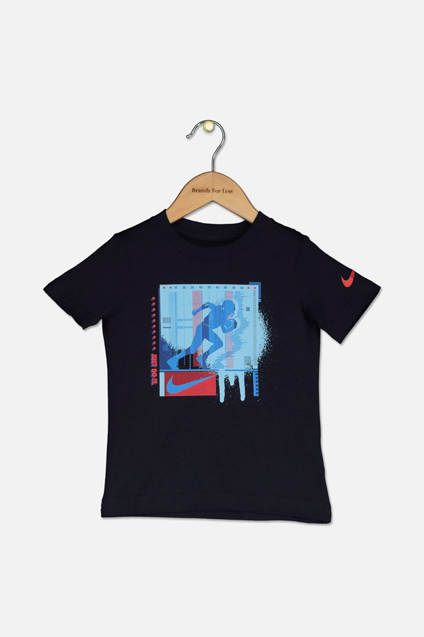 Baby Boy's Graphic Tee, Obsidian