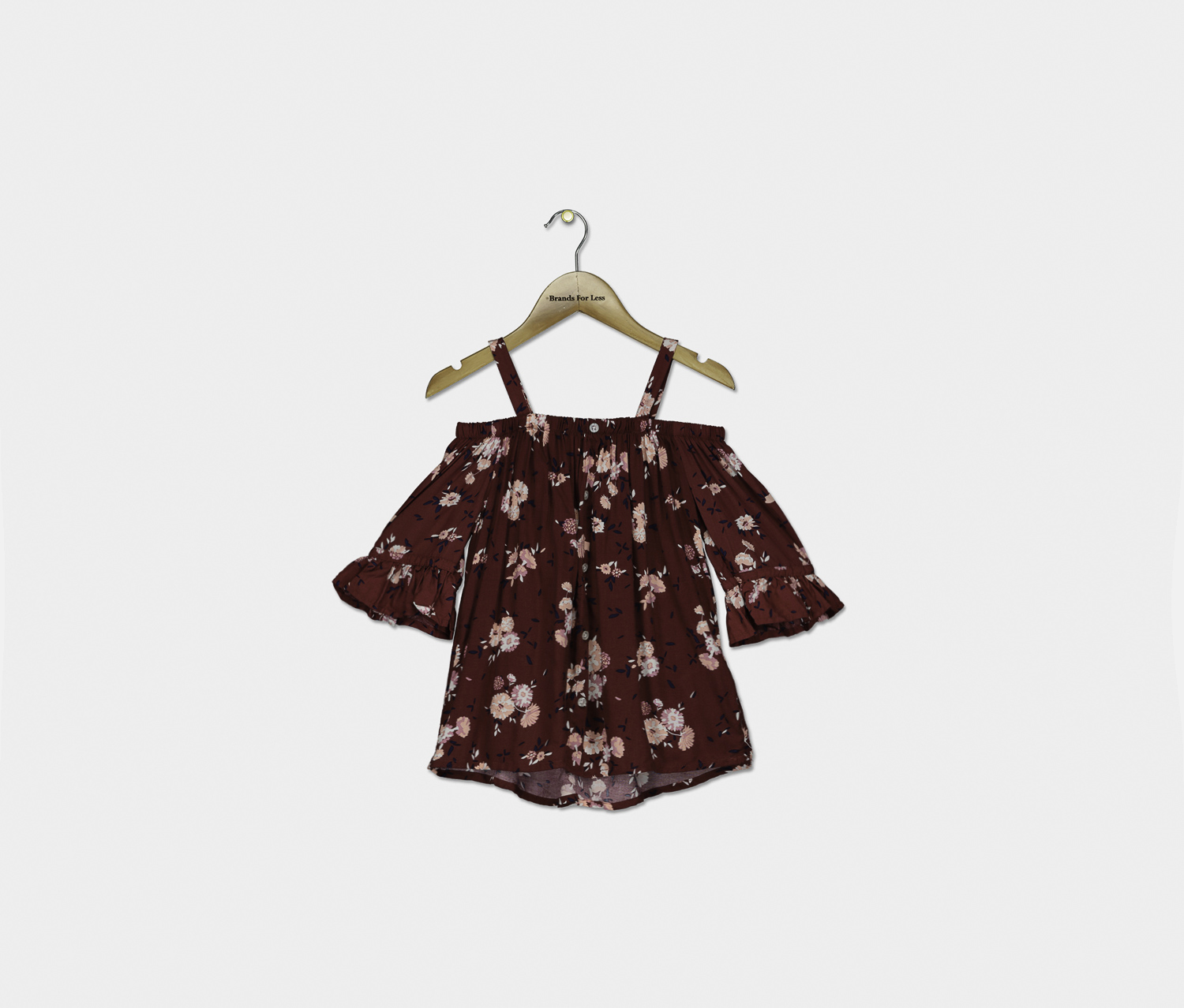 Big Girls Off-the-Shoulder Top, Crimson Autumn