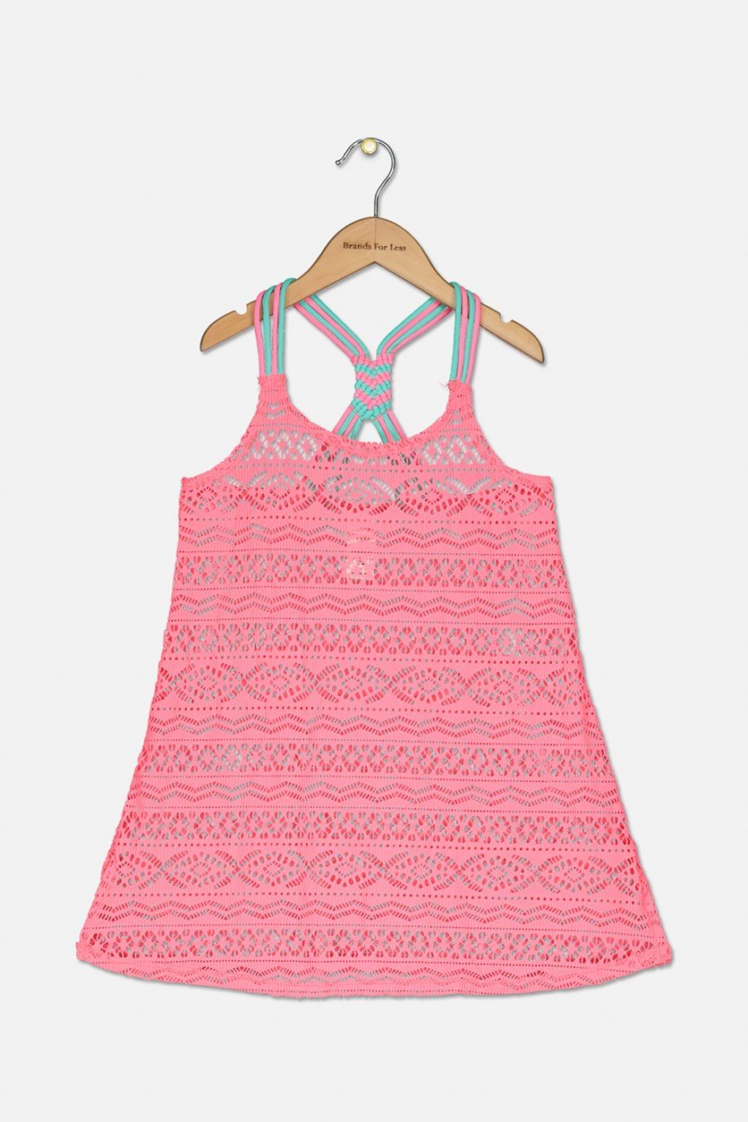 Malibu Crochet Cover Up, Pink