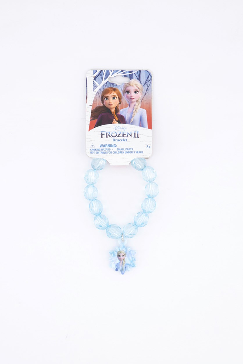 Kids Girl's Faceted Bracelet with Plastic Charm, Blue