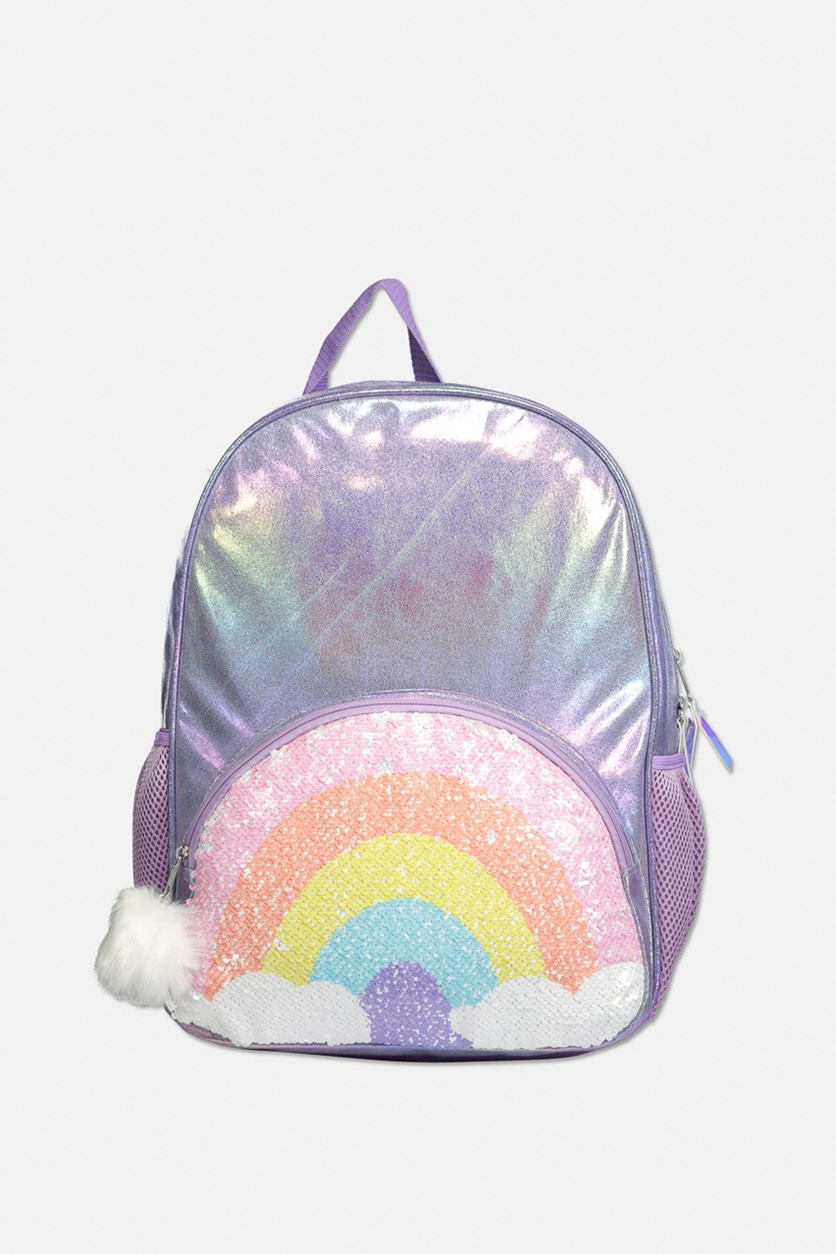 Big Girls Reversible Sequin Backpack, Purple Combo