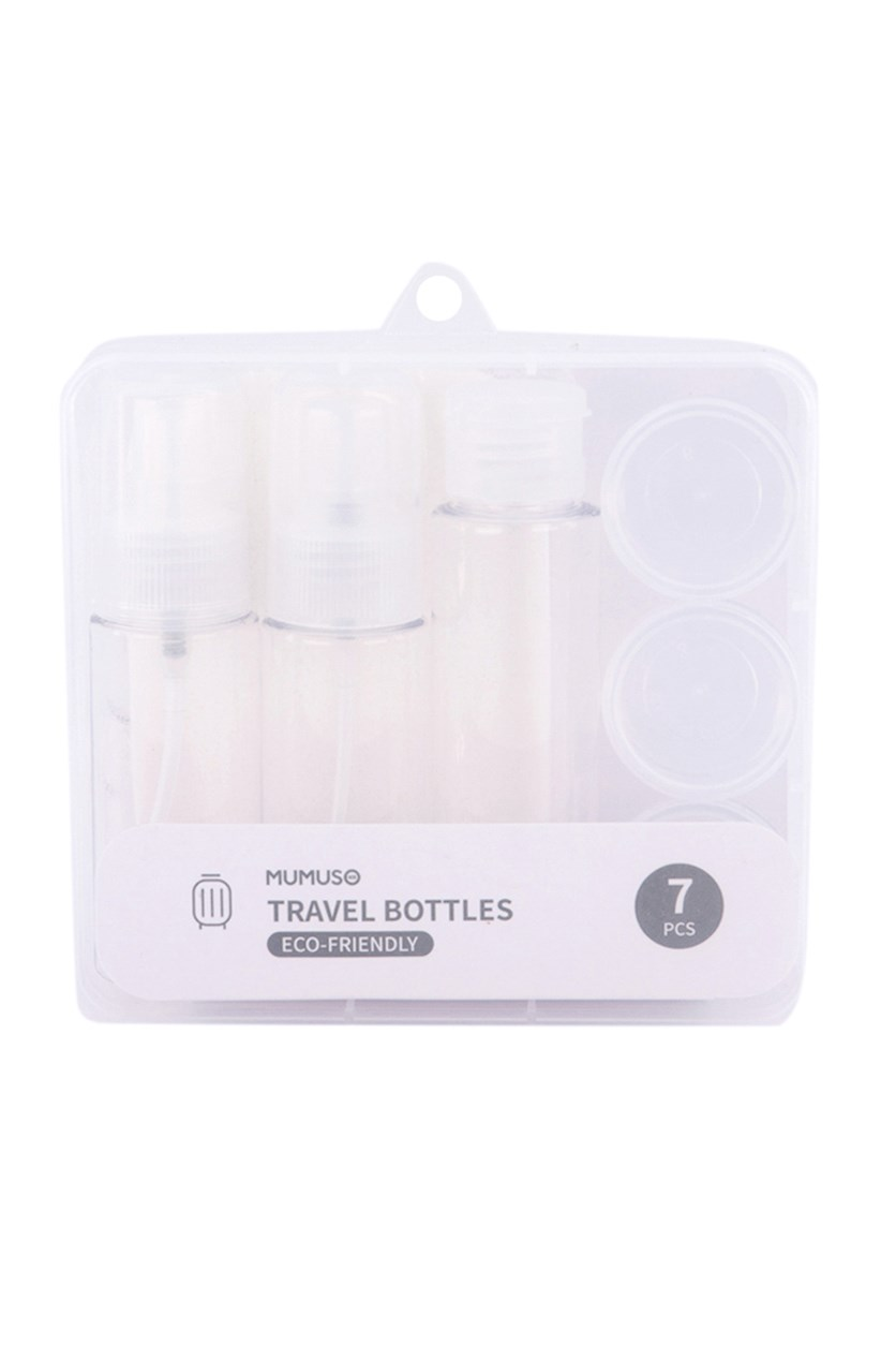 Travel Bottles 7 Pcs, Transparent