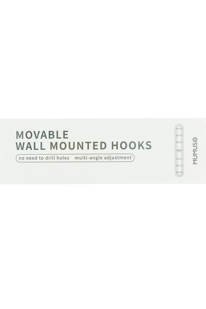 Movable Wall Mounted Hook, Light Blue/Green