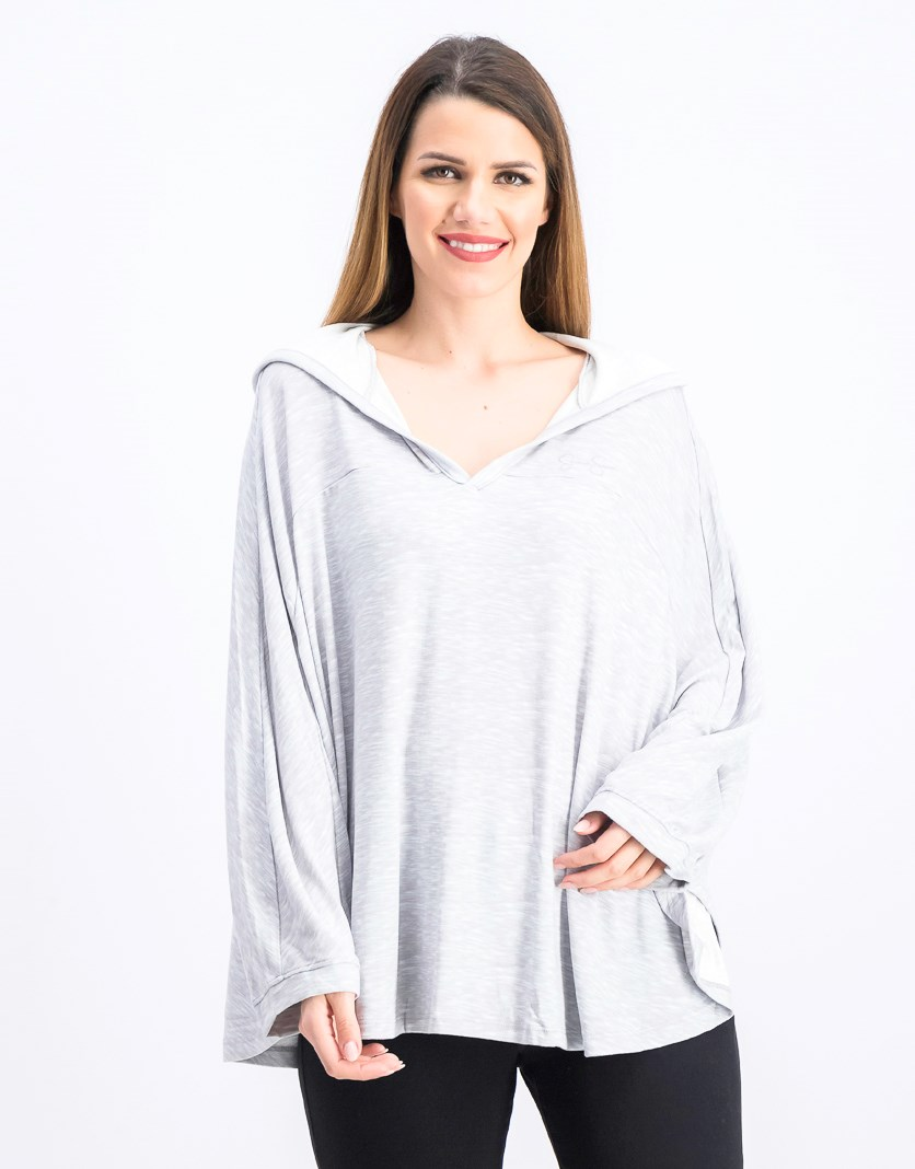 Women's Hooded Sweaters, Heather Gray