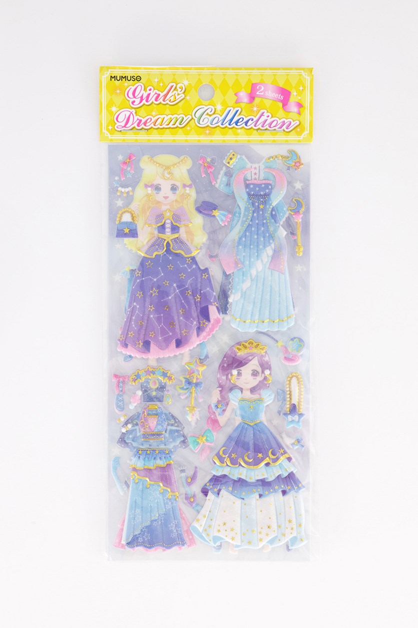 Dream Collection 2 In 1 Stickers, Blue Combo