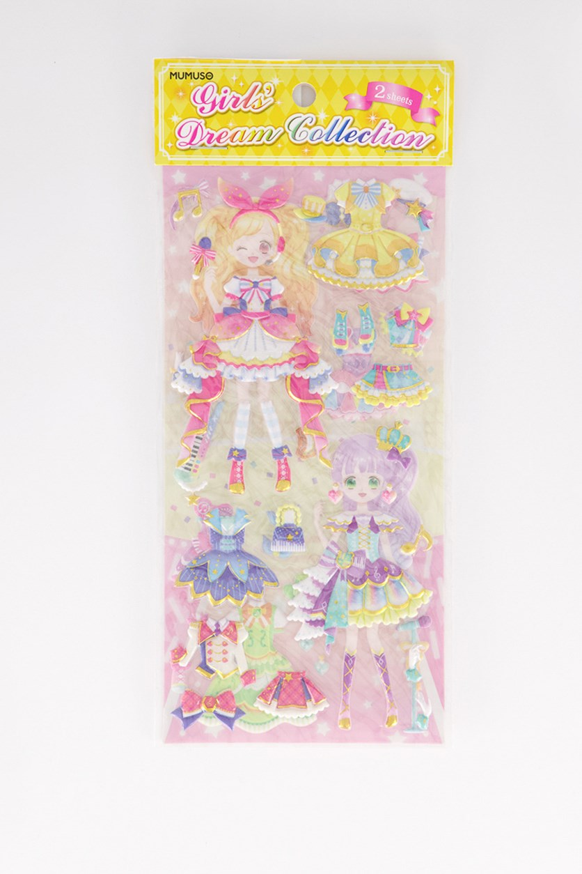 Dream Collection 2 In 1 Stickers, Yellow/Pink Combo