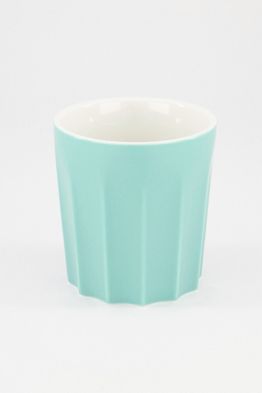 Coloured Glaze Ceramic Cup Without Handle, Green