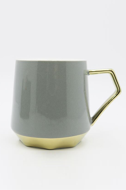 Gilded Ceramic Cup, Gray
