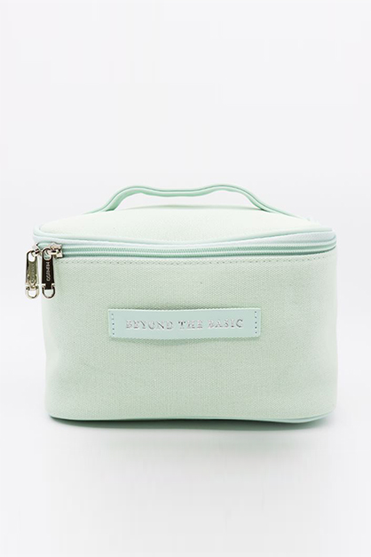 Canvas Cosmetic Case, Green