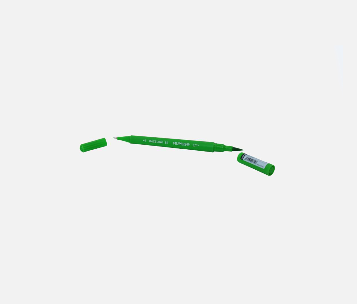 Multifunctional Dual-End Brush Pen, Green