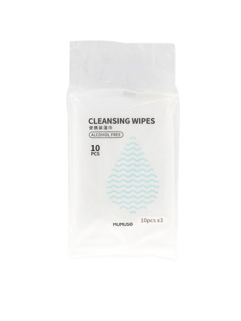 Cleansing Wipes Alcohol-Free Set of 3, White