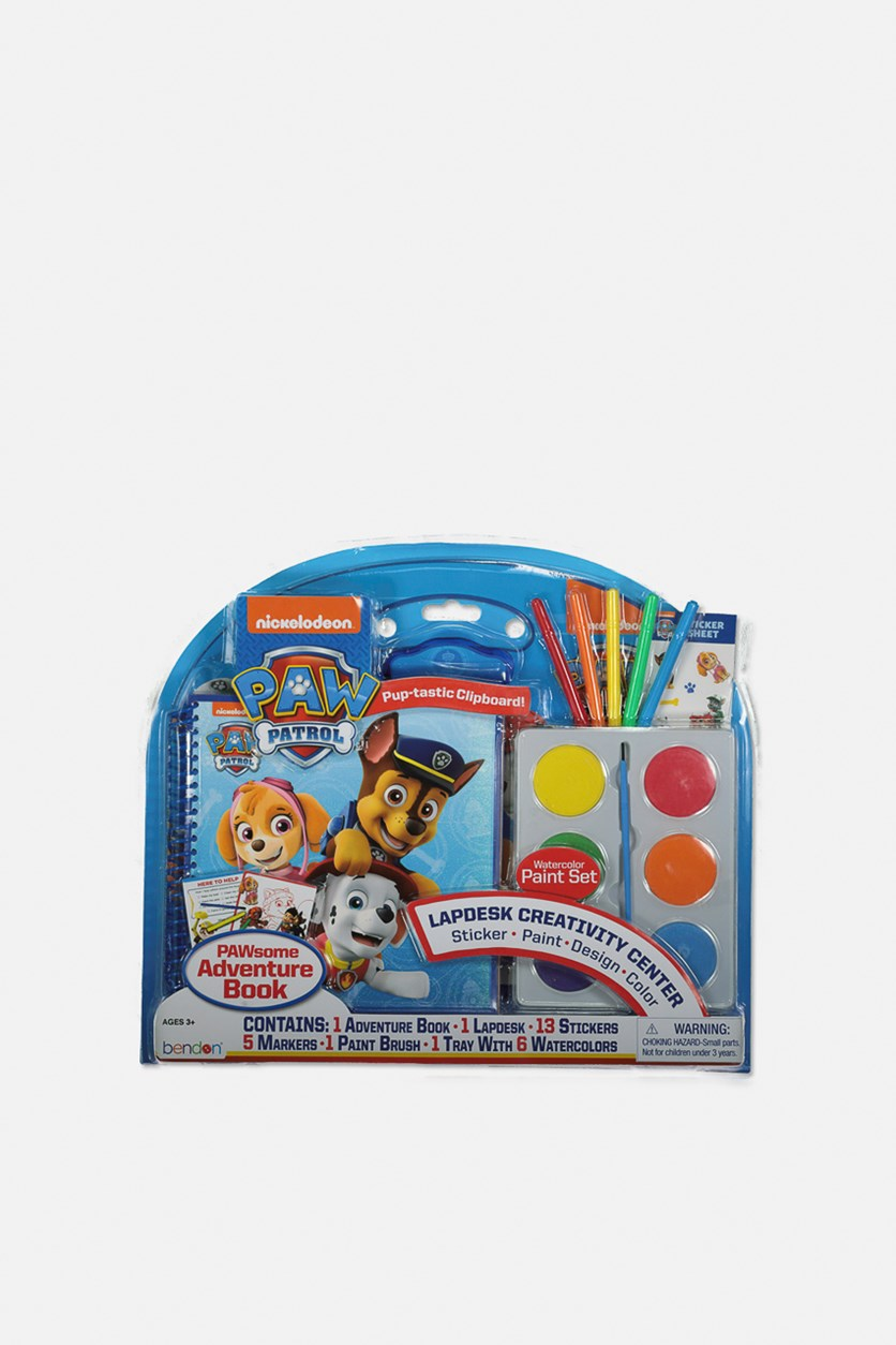 Paw Patrol Adventure Book and Water Color Set, Blue Combo