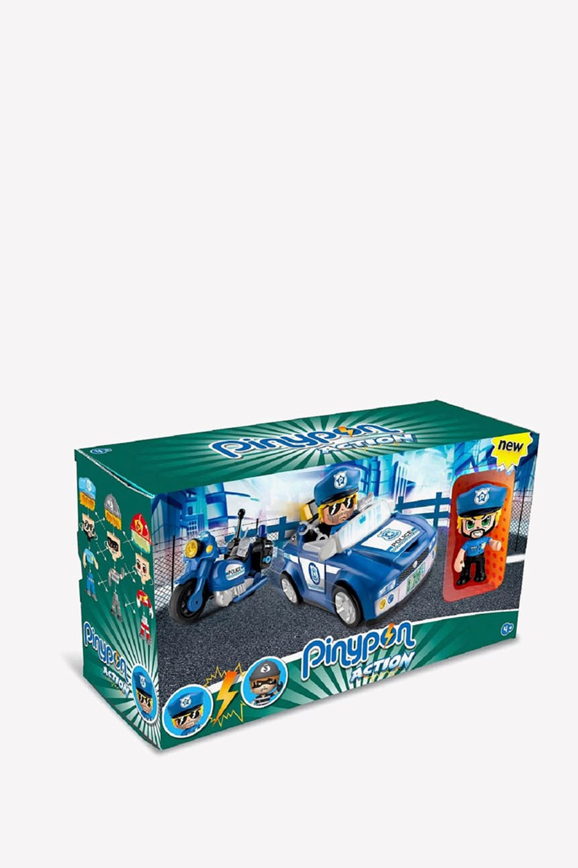 Action Police Vehicle, Blue/Green