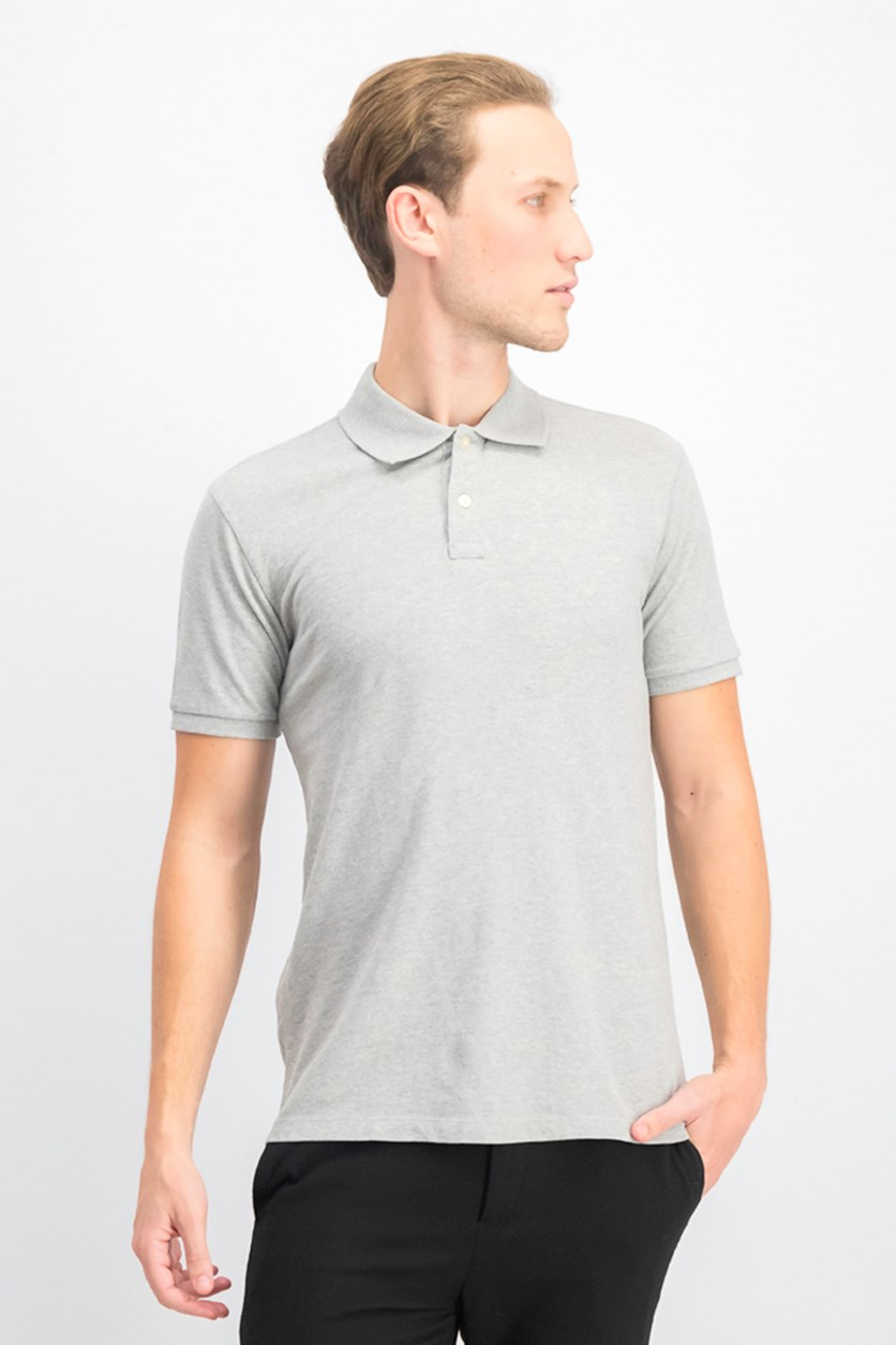 Men's Polo Shirt, Heather Grey