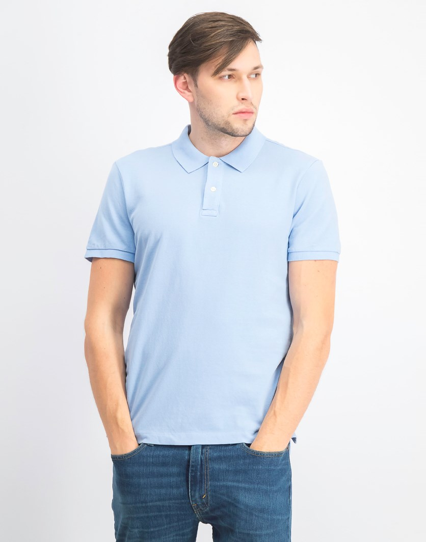 Men's Short Sleeve Polo,  Blue