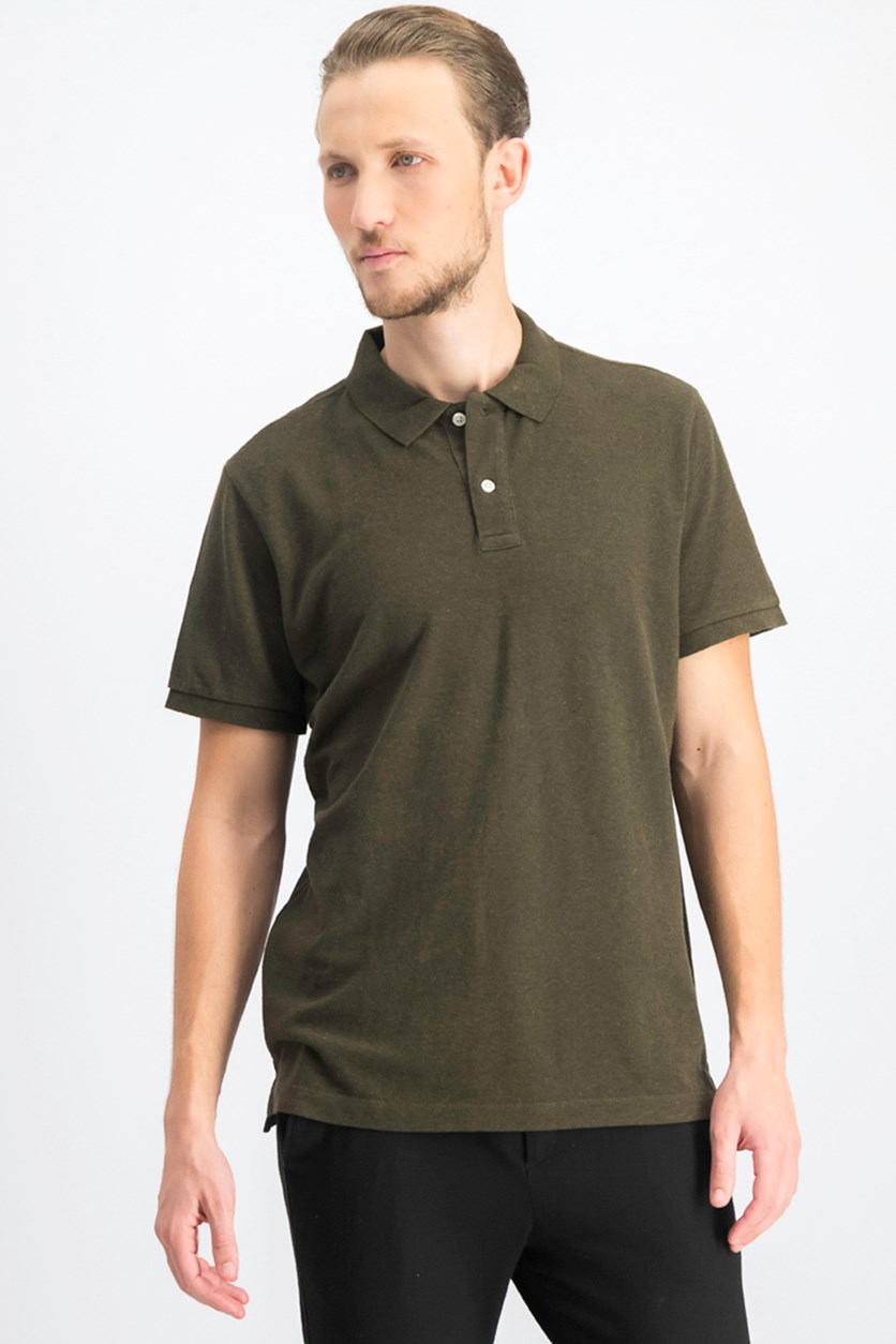 Men's Plain Polo Shirt, Olive