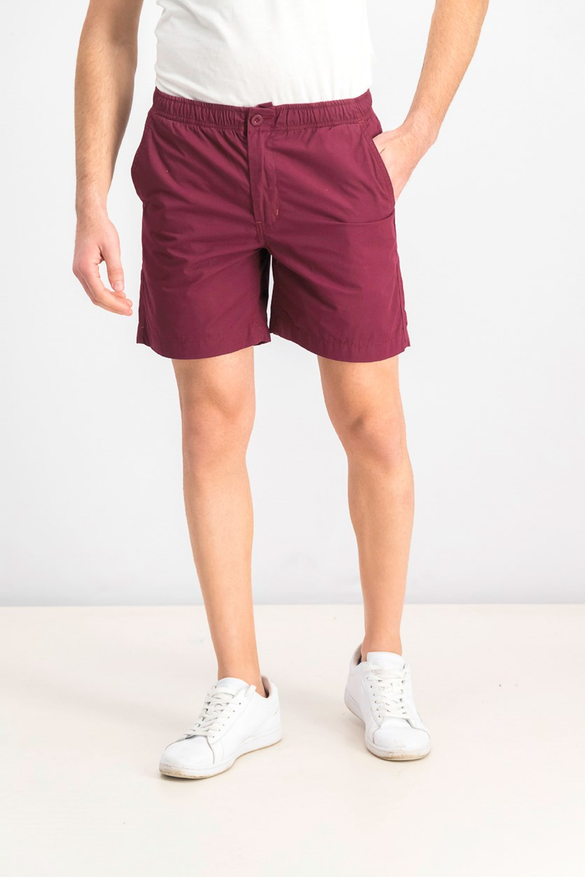 Men's Hawaiian Shorts, Maroon